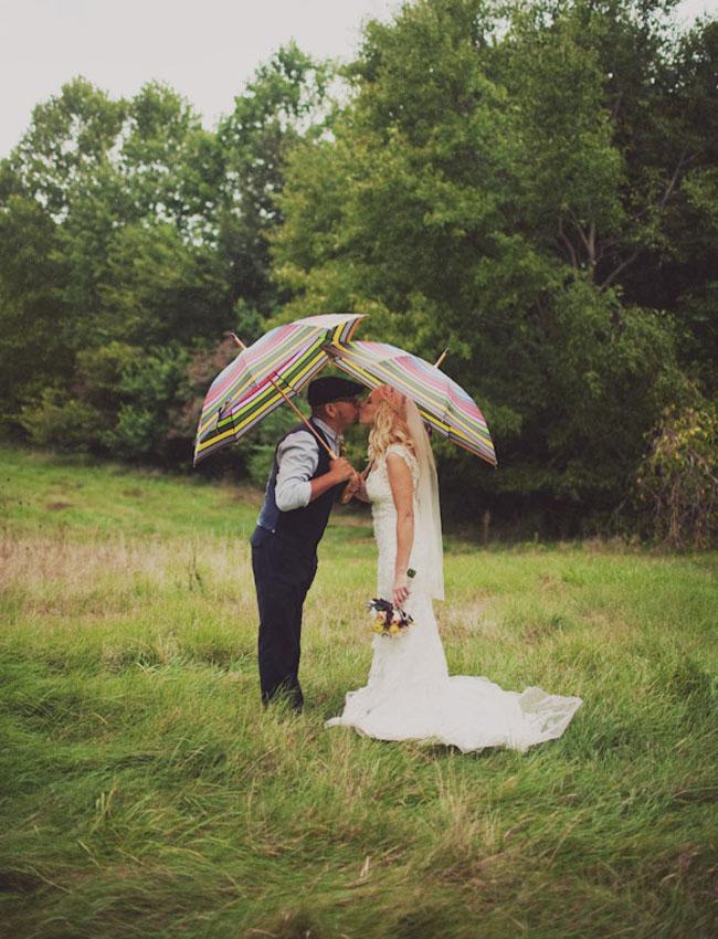 chicago wedding, umbrellas