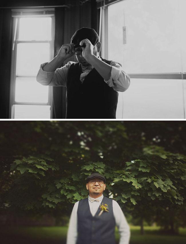 groom in hat