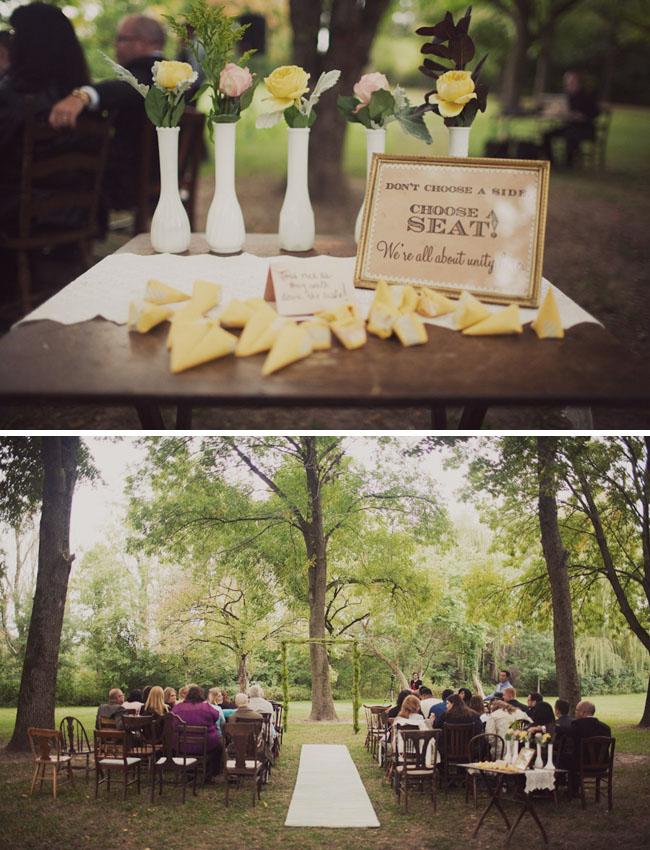 nature preserve wedding ceremony