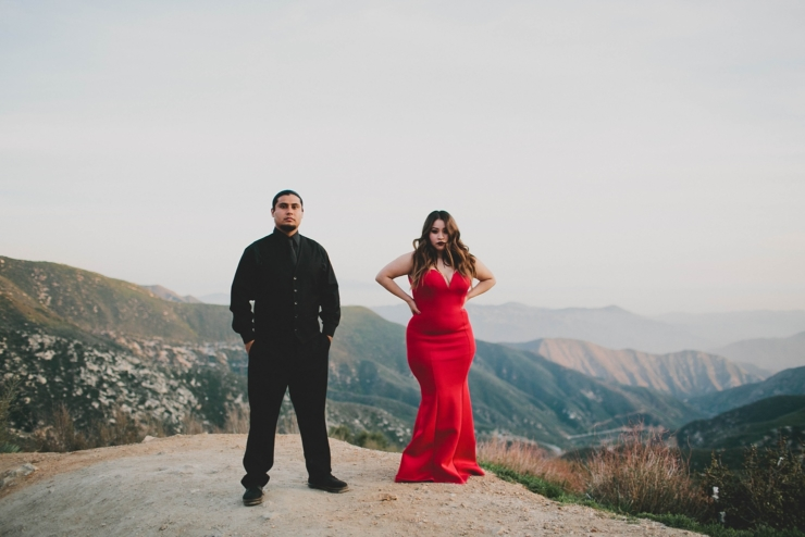 LA Mountaintop Engagement