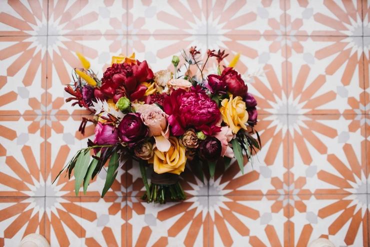 burgundy peony bouquet