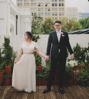 Intimate Redbird LA Rooftop Wedding