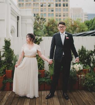 Intimate Redbird LA Rooftop Wedding