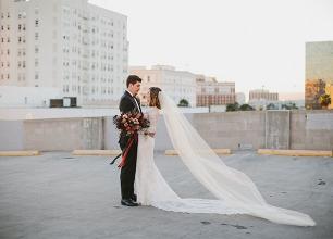 Halloween Wedding at Carondelet House in LA; Shea + Jeremy